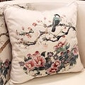 "Luxury White Bird Round Printing Pillow 18""X18"" - Thumbnail 0"