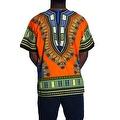UNISEX Dashiki Men's Adult Summer Casual Loose Short Sleeve Cotton Jersey Kaftan T-Shirt - Thumbnail 5