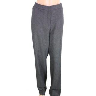 Elie Tahari NEW Gray Womens Size 4 Flat Front Speckle Dress Pants