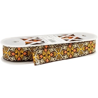 """Embroidered Tyrol Tape 1-1/2""""X10yd-Multi"""
