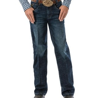 Cinch Western Jeans Boys Carter Slim Bootcut Dark Stonewash