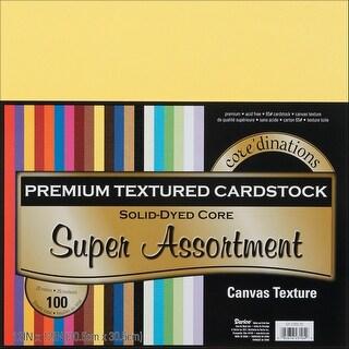 "Core'dinations Value Pack Canvas Cardstock 12""X12"" 100/Pkg"