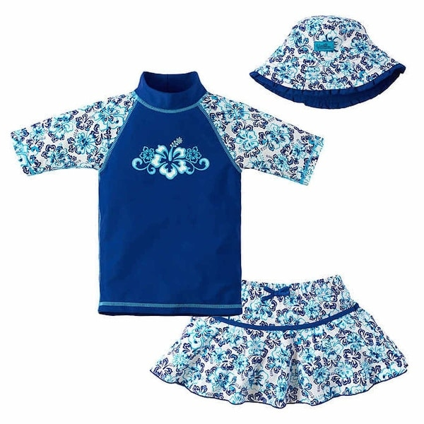 UPF 50 Sun Protection Swim Set UV SKINZ Girls 3-Piece Swim Set