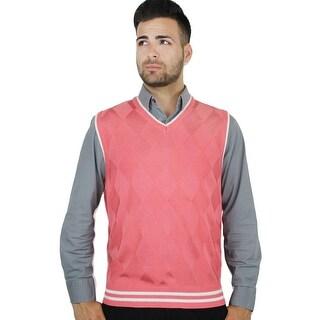 Men's Contrast Argyle Sweater Vest