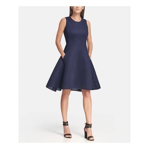 DKNY Blue Sleeveless Above The Knee Dress 12