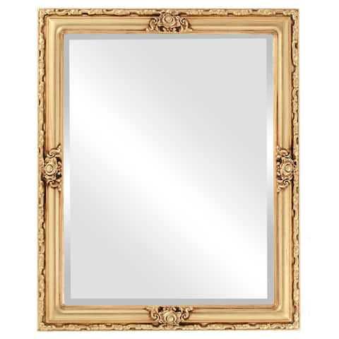Jefferson Framed Rectangle Mirror in Antique Gold Leaf