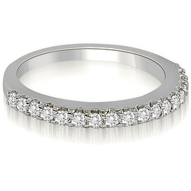 0.22 cttw. 14K White Gold Classic Round Cut Diamond Wedding Band