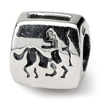 Sterling Silver Reflections Sagittarius Zodiac Antiqued Bead (4mm Diameter Hole)