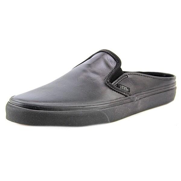 1fb66591179e7f Shop Vans Classic Slip-On Mule Women Round Toe Leather Black Mules ...