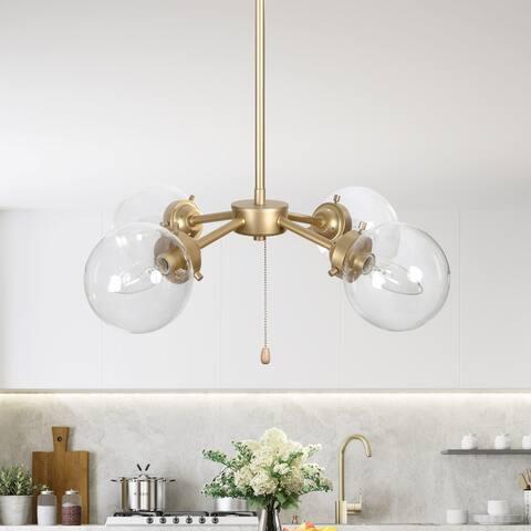 "Mid-Century Modern Glam 4-lights Pendant Lights Hanging Ceiling Lighting for Kitchen Island,Dining Room - D19.7""x H11.5"""