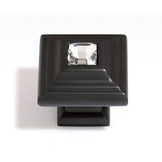 Alno C213 Crystal 1-1/4 Inch Square Cabinet Knob