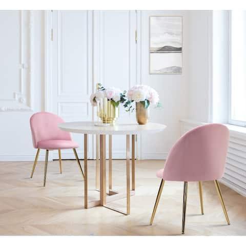 Velvet Upholstered Dining Chairs (Set Of 2)
