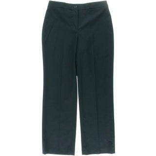 Jones New York Womens Petites Sloan Pant Ponte Classic Fit Trouser Pants - 10P