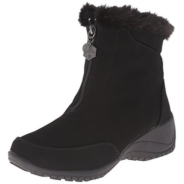 Khombu Womens Alice Snow Boots Faux Fur Wedge