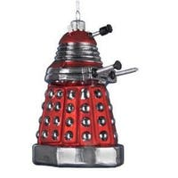 "5"" Red Dalek Drone ""Doctor Who"" Arch Enemy Glass Christmas Ornament"