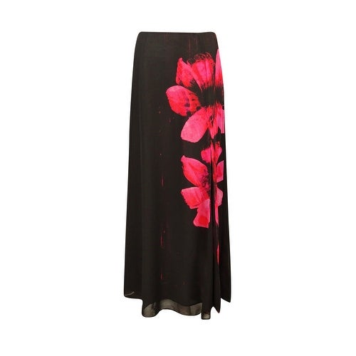 Guess Los Angeles Women's Chiffon Floral Slit Hem Skirt