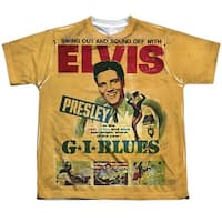 Elvis Gi Blues (Front Back Print) Big Boys Youth Sublimated Polyester Shirt