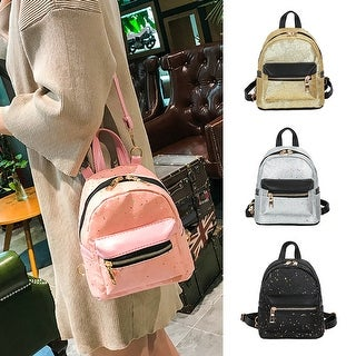 Fashion Women Shiny Sequins Large Capacity Backpack School Travel Shoulders Bag
