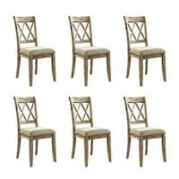 """Mestler Dining UPH Side Chair 2/CN Antique White (6-Pack) Mestler Dining UPH Side Chair 2/CN Antique White"""