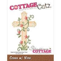 "CottageCutz Die-Cross W/Vine 1.9""X3"""