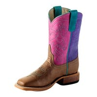 Anderson Bean Western Boots Girls Kids Roper Bone Mad Dog Pink