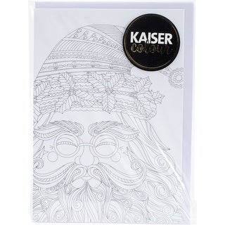 """Kaisercolour C6 Gift Card W/Envelope 4.5""""X6.4""""-Santa Claus"""