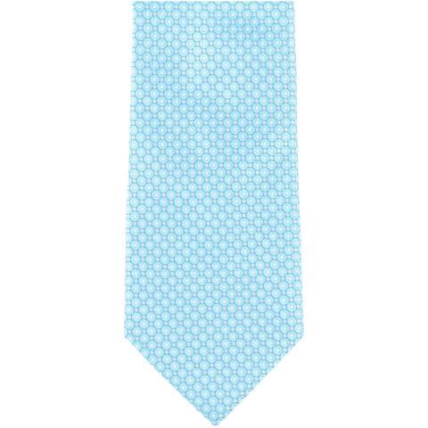 Geoffrey Beene Mens Crest Self-tied Necktie, blue, One Size - One Size