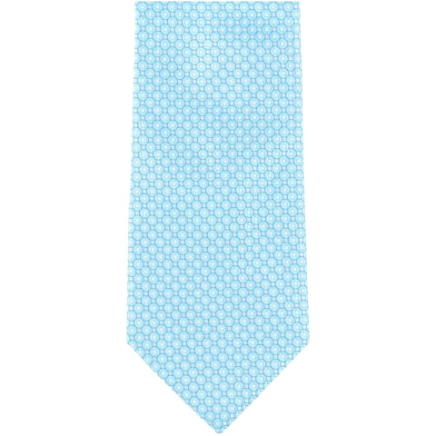 Geoffrey Beene Mens Crest Self-tied Necktie, blue, One Size - One Size