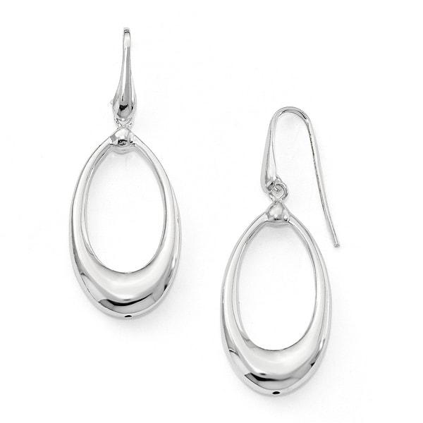 Italian Sterling Silver Shepherd Hook Earrings