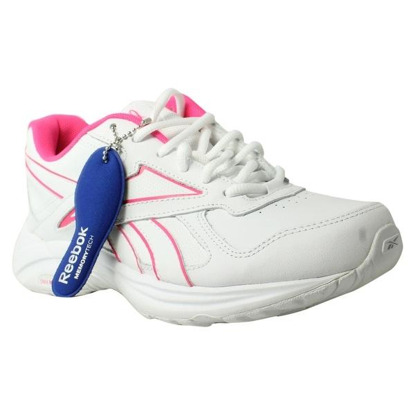 f206c7e3f834d1 Reebok Womens Walk Ultra V Dmx Max Pr-White SolarPink Walking Shoes Size 7