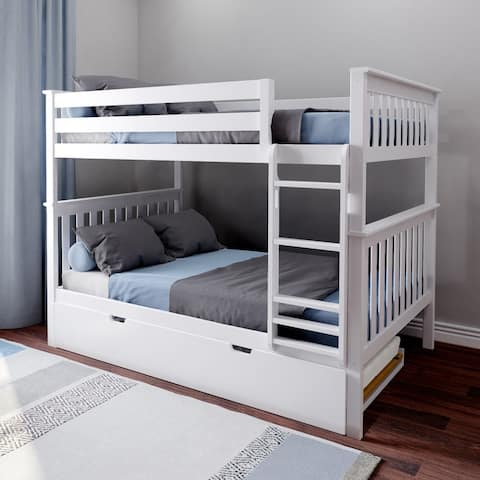 Max & Lily Full over Full Bunk Bed with Trundle Bed