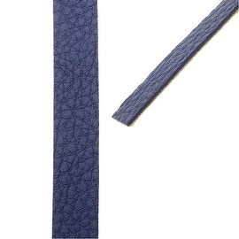 Create Recklessly, Symphony Faux Leather Strip, for Bracelets 10mm Wide, 1 Yard, Iris Blue