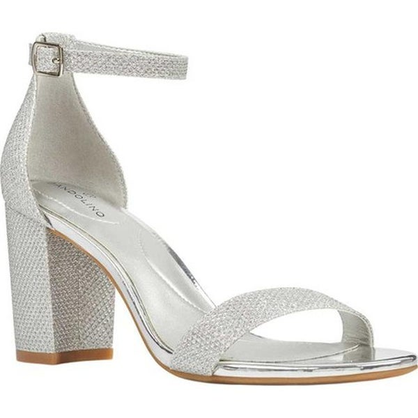 63798f3a61633 ... Women's Sandals. Bandolino Women's Armory Ankle Strap Sandal Silver  Nu Glamour