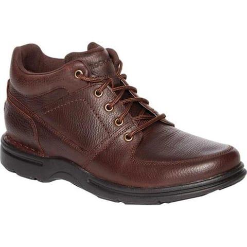 Rockport Men's Eureka Plus Ankle Boot Dark Brown Leather