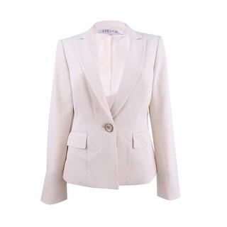 Kasper Women's One-Button Jacket - Parchment