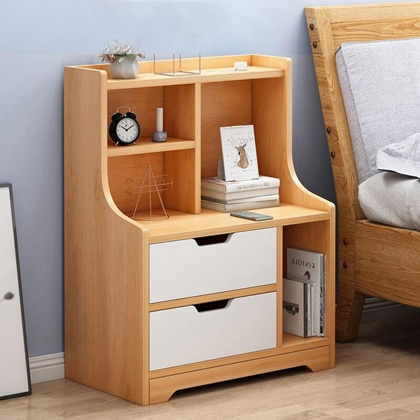 Nordic Bedside Table Bedroom Simpleness Storage Bedside Table Easy Assembly. Opens flyout.