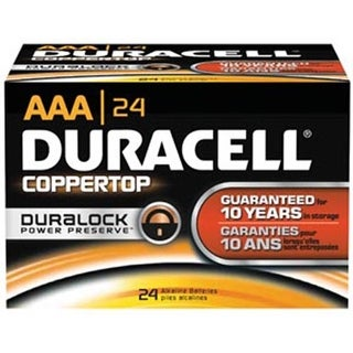 Duracell Coppertop Alkaline Battery Size AAA - Box of 24