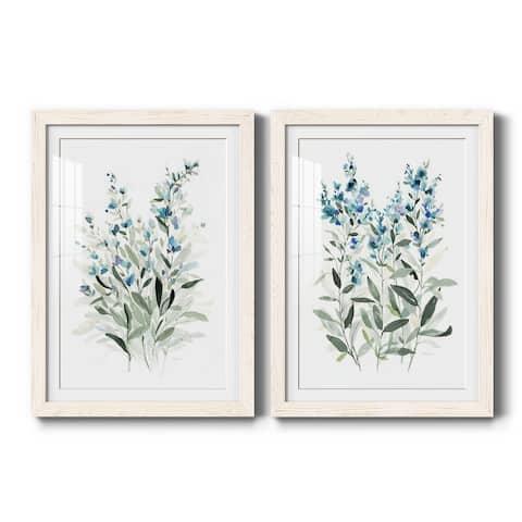 Delicate Blue Botanical I-Premium Framed Print - Ready to Hang