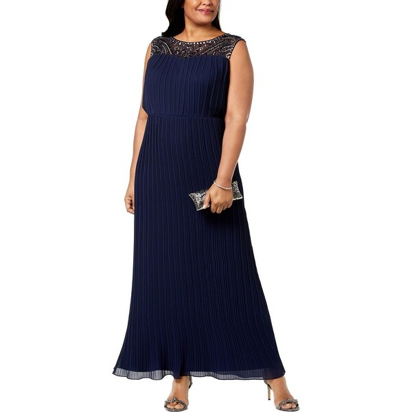 Alex Evenings Womens Plus Evening Dress Sleeveless Full-Length