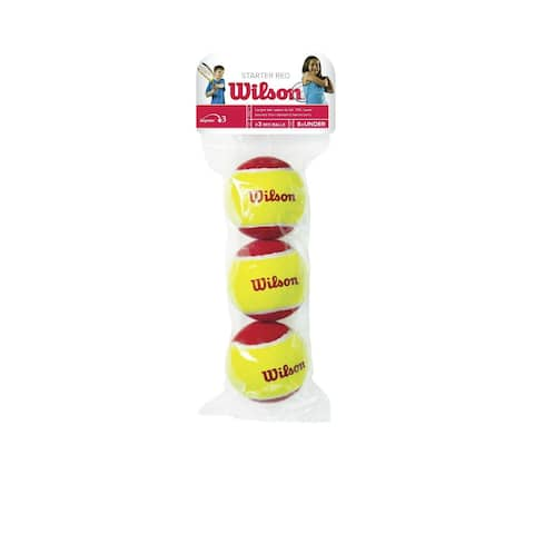 Wilson WRT137000 US Open Red Tennis Ball, Red/Yellow, 3-Pack