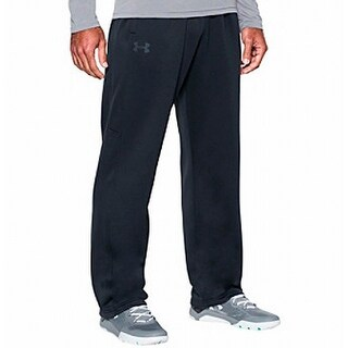 Under Armour NEW Deep Black Mens Size XL Pull-On Logo Pants Stretch