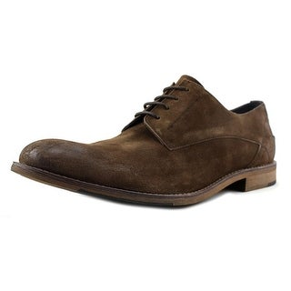 Kenneth Cole Reaction Bow Down Men  Plain Toe Leather Brown Oxford