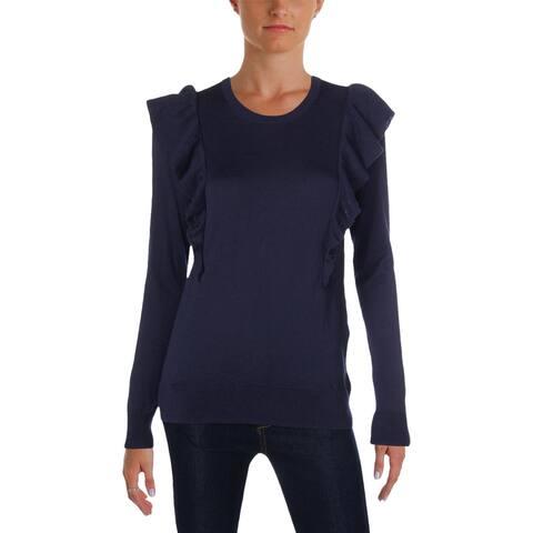 MICHAEL Michael Kors Womens Sweater Casual Ruffled