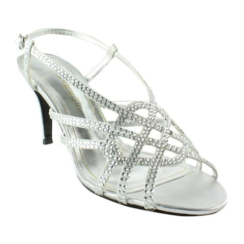 515a927c287 Caparros Womens Victory Silver Metallic Sandals Size 8