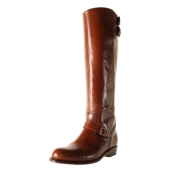 b6467f0d6205f Shop Frye Womens Dorado Buckle Riding Boots Leather Knee-High - Free ...