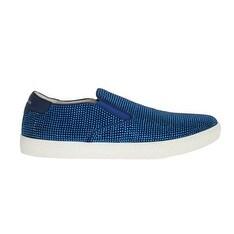 Dolce & Gabbana Dolce & Gabbana Blue Strass Canvas Logo Sneakers