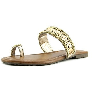 Madeline Blush Women Open Toe Synthetic Bronze Sandals