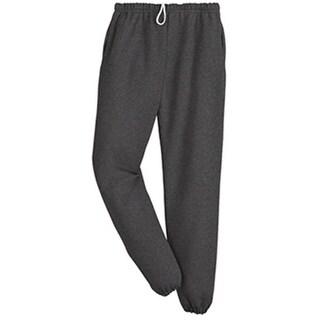 4850MP Super Sweats Adult Pocketed Sweatpants - Black Heather,