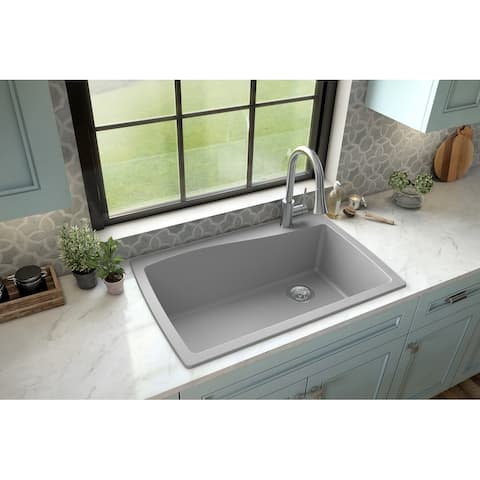 Karran Drop-In Quartz Single Bowl Kitchen Sink