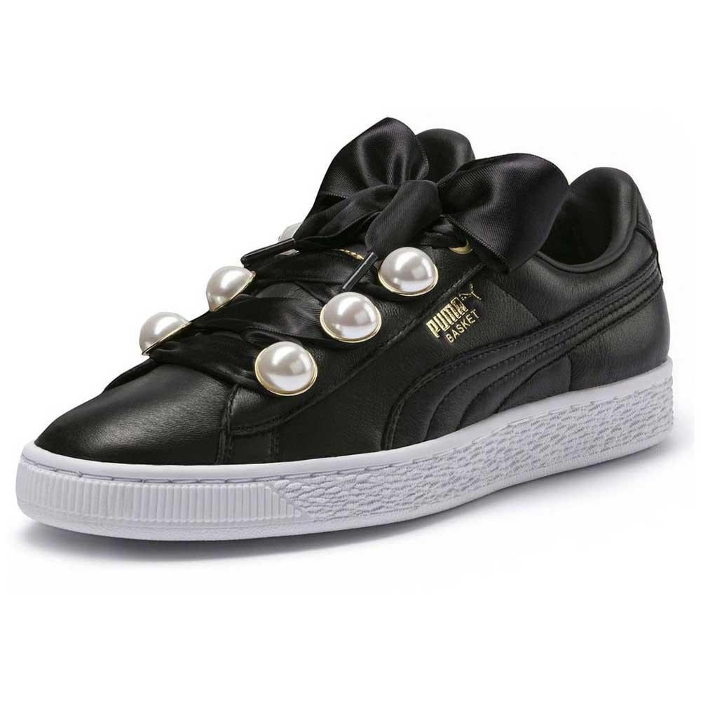 great deals 2017 order online innovative design Puma Womens Basket Bling Fabric Low Top Lace Up Fashion Sneakers